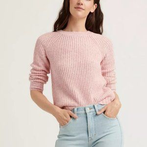 LUCKY BRAND Blush Ellie Donegal Pullover Sweater M